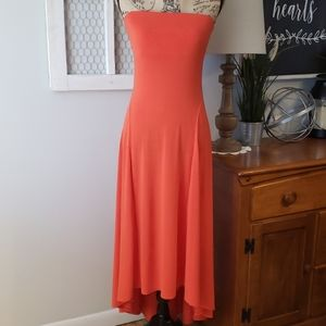 NWT!!! Express strapless orange dress size Small